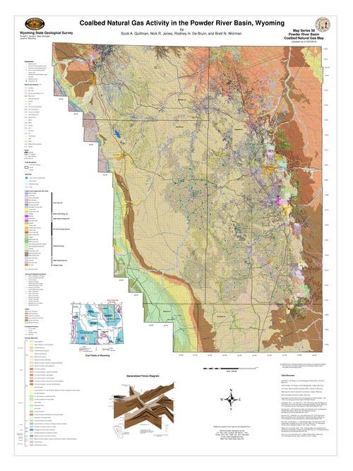 Powder River Wyoming Map.Geological Surveys Database