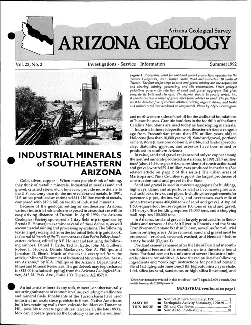 Industrial Minerals | American Geosciences Institute